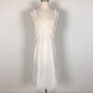 Vintage Off White Lace Slip